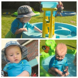 Summer fun with the cousins never knowingly for Elc paddling pool